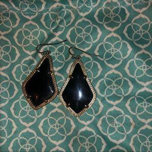 Black Alex Drop Earrings In Gold - Kendra Scott